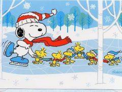 snoopy-ice-skating