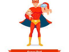 papa-de-super-héros-père-prenant-soin-de-deux-fils-62842967