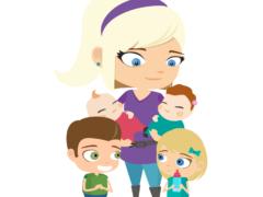 maman et jumeaux dessin