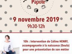 flyer cafe papote 9 novembre19 Doula