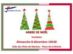 Arbre de Noël Jumeaux et Plus - Invitation